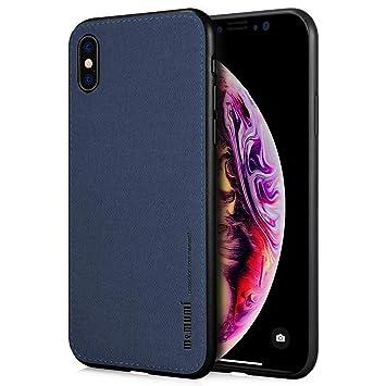 memumi Funda para iPhone X, Carcasa para iPhone XS Prueba de Golpes Caso de Protección contra la Huella Digital de la Contraportada Compatible con ...