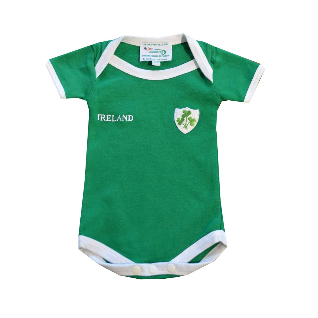 Green Ireland Rugby Vest Designed With A Small Ireland Print And Shamrock Badge Lansdowne