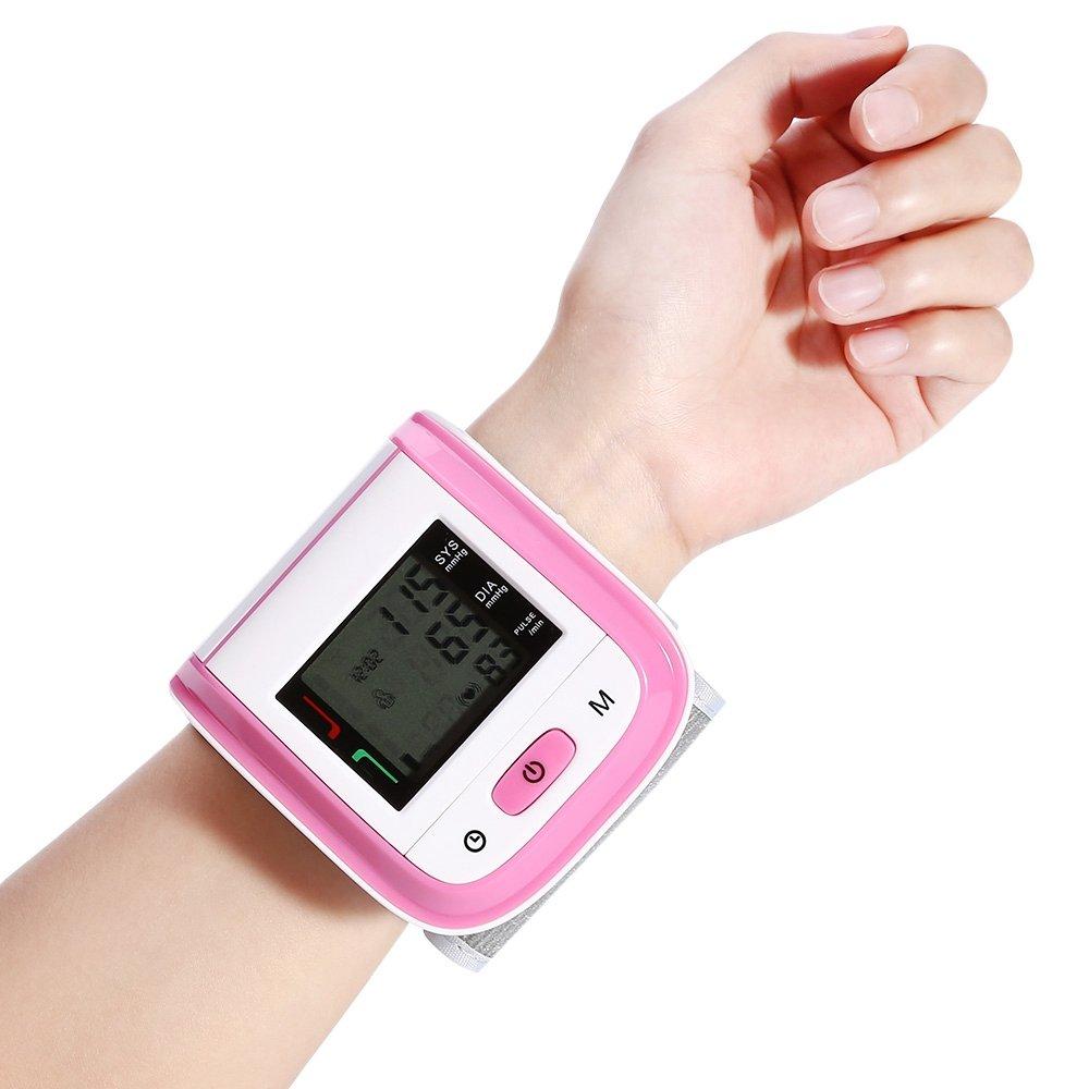 Tensiómetro electrónico de brazo LED pantalla memoria para respaldo de salud brazalete ajustable, color rosa: Amazon.es: Salud y cuidado personal