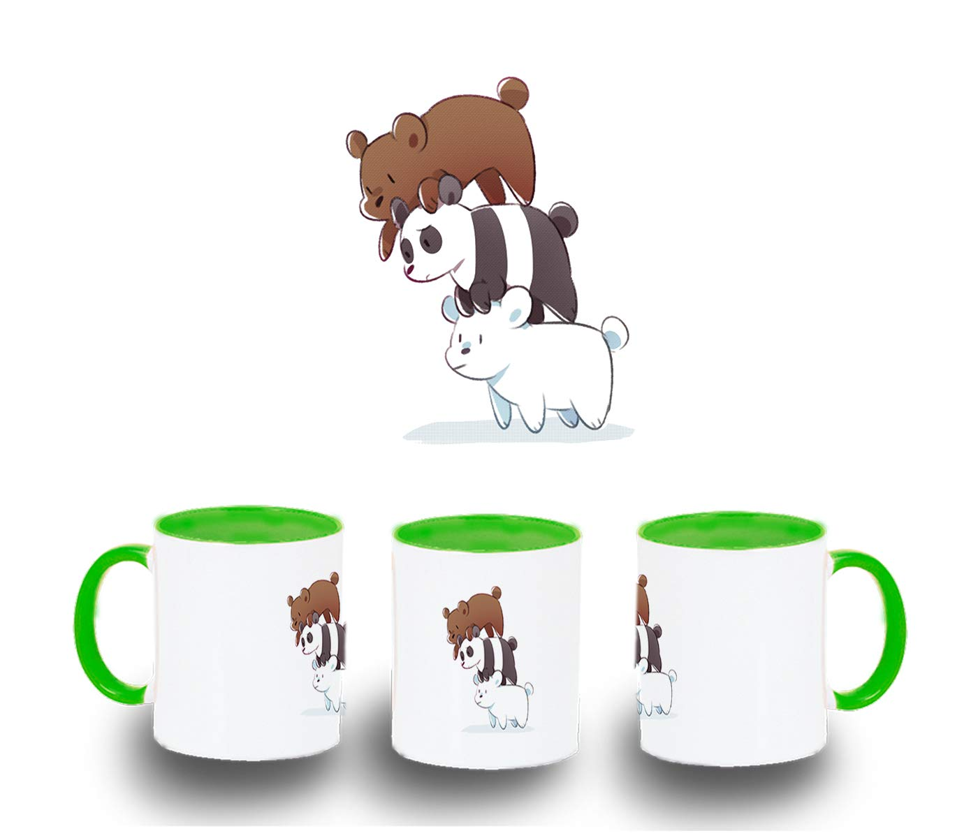 MERCHANDMANIA Taza Somos Osos Polar Panda Pardo Color mug