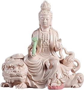 LHMYGHFDP Buddha Statue Sculpture Kuan Yin/Guanyin Mascot Feng Shui Decoration Zen Garden Indoor/Outdoor Decor Porch Yard Art Lucky Statue,A