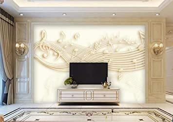 Amazon.com: Modern 3D Wall Murals Embossed Note Music Photo ...