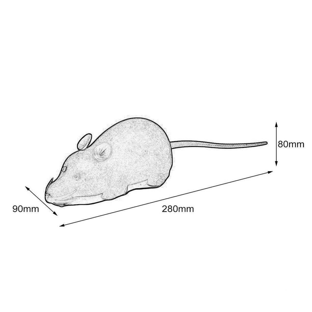 Ratón teledirigido, ratón Juguete robótico del gato interactivo Dos modos de trabajo Diversión interior elegante, teledirigido Ratón marrón Ratón Juguete ...
