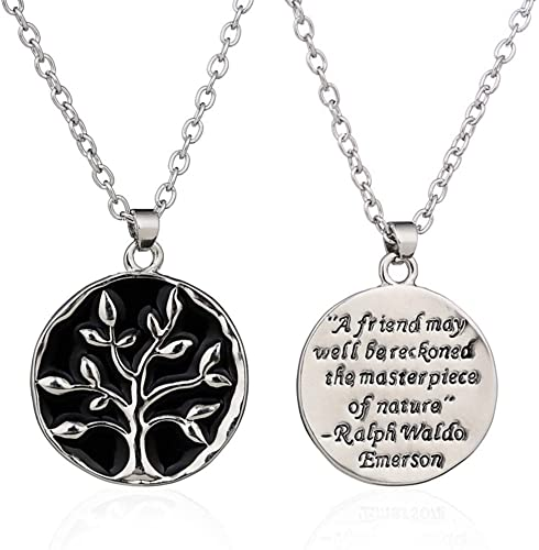 FUJIN 925 Sterling Silver Personalized Charm Chrismas Tree Pendant Necklace Custom Made with Any Letters
