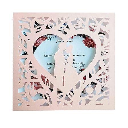 Anniversario Matrimonio Auguri Romantici.Aiflymi 10 Pcs Biglietti D Auguri Romantici Sposi Sposa Inviti Di
