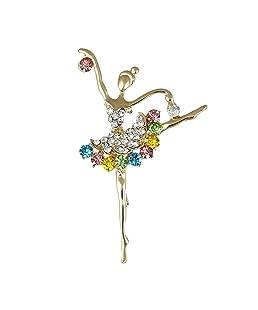 REFURBISHHOUSE Broche Joya de Moda Broche de Diamantes de Imitacion para Boda Fiesta Noche -Accesorio de Ropa de Noche de Chica Bailarina