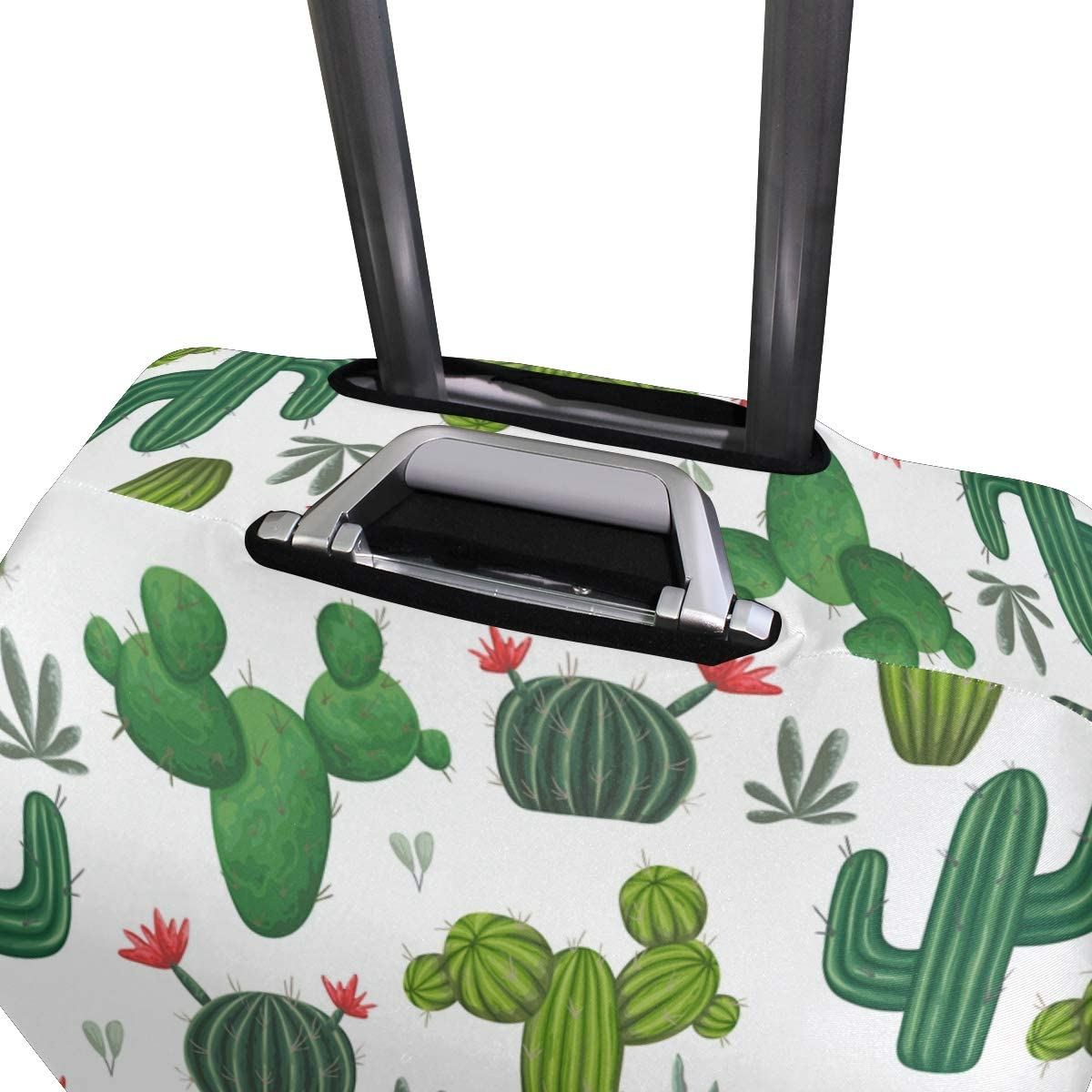 S Colorful Cactus Print Fashion Creative Design Anti-Scratch Stretchy Travel Suitcase Protector Baggage Covers 18//20//24//28//32 Inch Spandex Travel Luggage Cover
