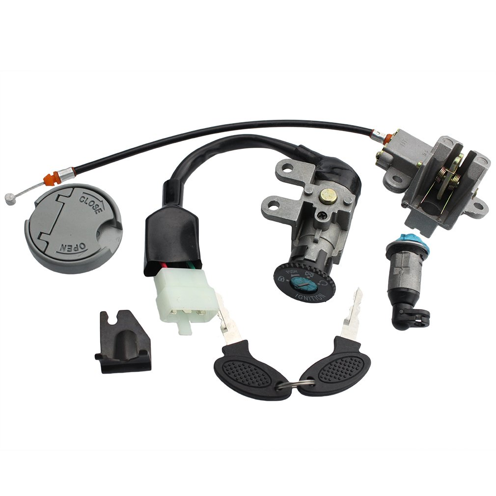 GOOFIT Ignition Switch Key Set for GY6 49cc 50cc Chinese Scooter Moped