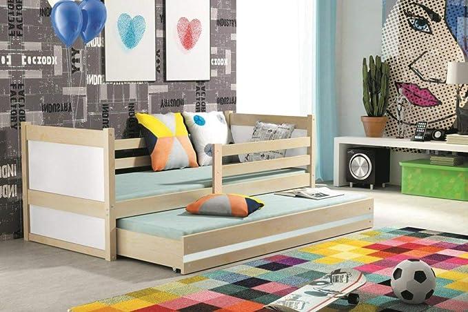 Interbeds Cama Nido Rico 200 x 90 con somieres y colchones, Pin Natural + La 2EME Color choisie: Amazon.es: Hogar