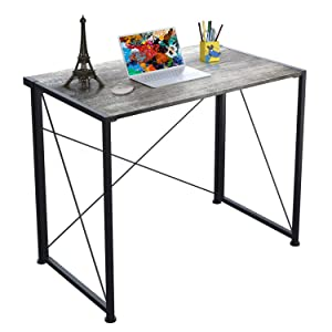 4NM Folding Table Computer Desk Home Office Laptop Table Writing Desk Compact Study Reading Table for Space Saving Office Table