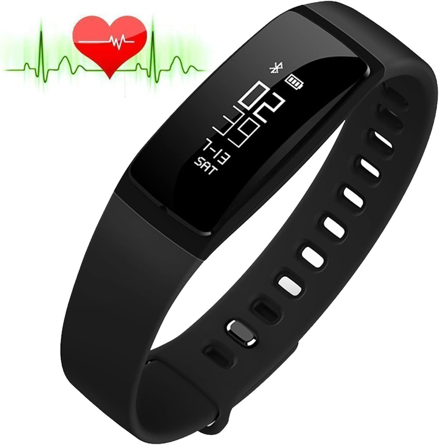 RIVERSONG®Fitness Tracker Monitor de Frecuencia Cardiaca Pulsera ...
