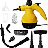 Comforday 350ML 1050W Handheld Pressurized Steam Cleaner with 9-Piece Accessories, Chemical-Free Steam Cleaning Grease, Stains, Mold for Home, Auto, Patio, More (Yellowe)