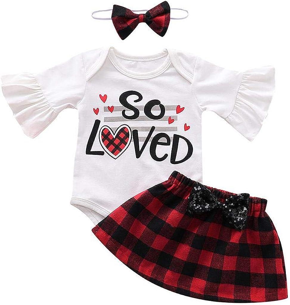 da 3 A 24 Mesi Beb/è Bambina Pizzo Balze Manica Lunga Tutine Body Vestiti Jimmackey Neonata Plaid Pagliaccetto