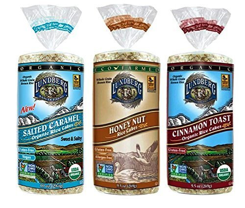 Lundberg Gluten-Free Non-GMO Rice Cakes 3 Flavor Variety Bundle, (1) Each: Salted Caramel, Honey Nut, and Cinnamon Toast, 9.5-10 Ounces (3 - Nut Apple Cake