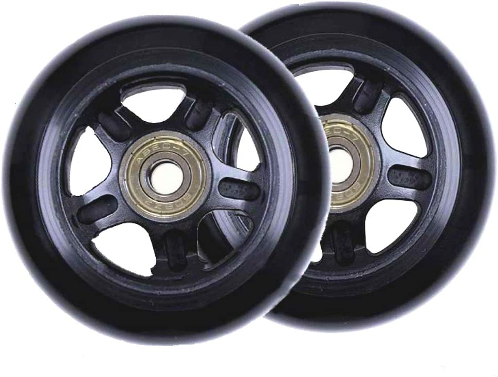 24mm Case Wheels with 8mm Bearings Wheels for Suitcase and Inline Outdoor Skate and Caster Board ORO 1 Pair Luggage Wheels Replacement 75
