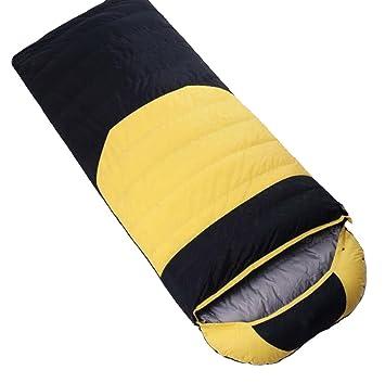 Hhrong Saco de Dormir Ultraligero Tipo de Sobre Engrosamiento Otoño e Invierno Senderismo al Aire Libre Acampar Acampar Alpinismo Adulto (4 Colores): ...
