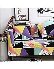 WUFANGFF Slipcover Motivo Geometrico colorato Elastico Forza Divano Poliestere Fodera per Divano Copridivano per Divano