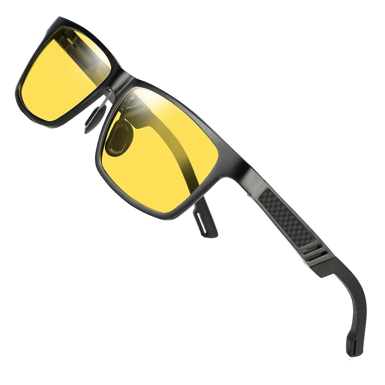 6bbabc60882 Amazon.com  DUCO Yellow Night-Vision Glasses Anti-Glare Driving Eyewear HD  Night Driving Glasses 2217  Sports   Outdoors