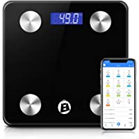 Elegant Shopping eStore Electronic Digital Bathroom Body Fat Scale Bluetooth 180KG BMI with 12 health measurements