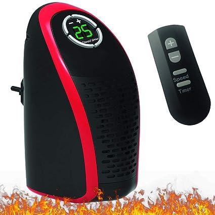 Calentador de espacio Portátil Mejorar Eléctrico 400W Ventilador de calefacción Miniatura Individual Chimenea Control remoto Calentador