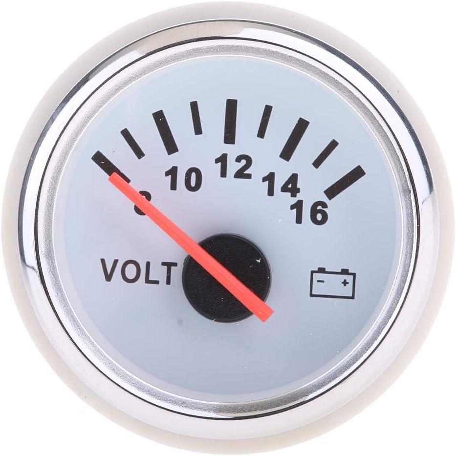 2/'/' Mechanical Voltmeter Volt Voltage Meter Gauge LED 12V Car Auto Boat 52MM