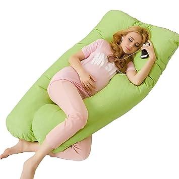 Yuena Care Schwangerschaftskissen Mutterschaftskissen Lagerungskissen U-Form mit Farbwahl Rose Bettausstattung