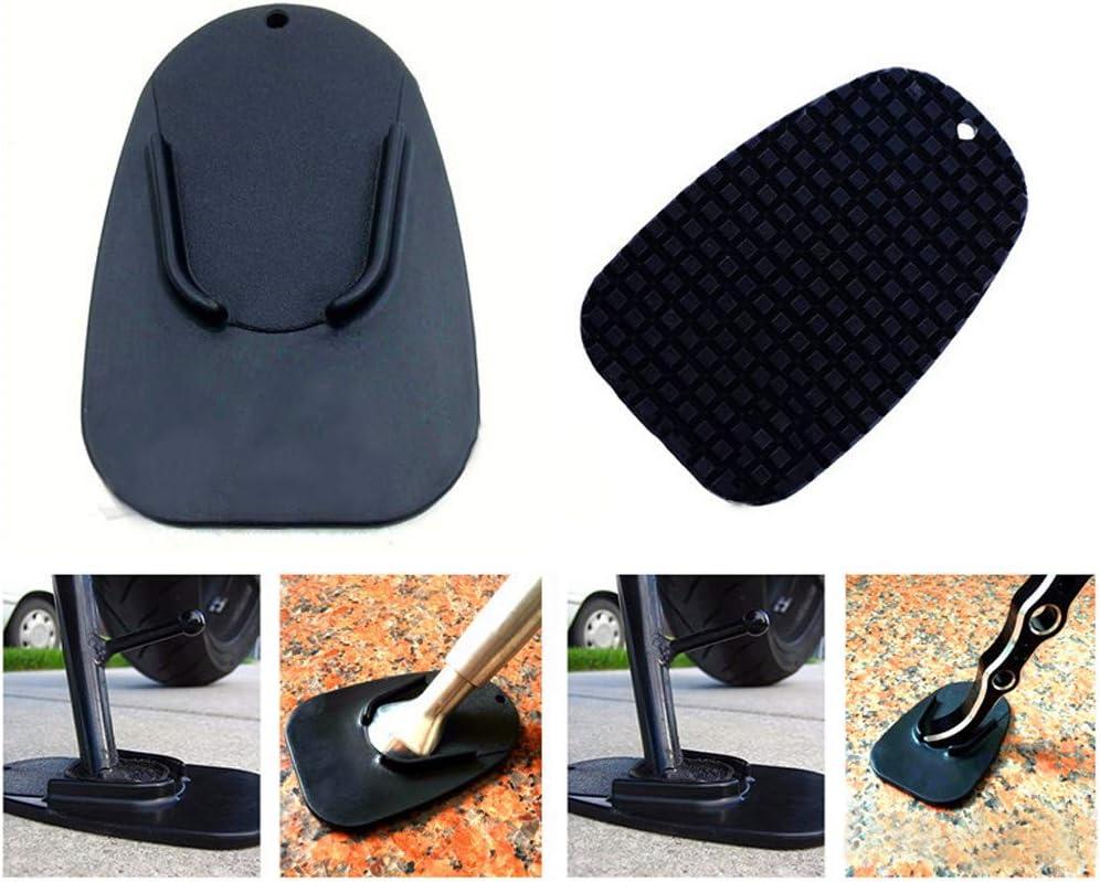 Patin de B/équille Lat/érale de Moto Portable avec Support de Base pour Support de Stationnement Ext/érieur pour Sol Mou LNIMIKIY 3PCS Plaque de Support de B/équille de Moto Universelle