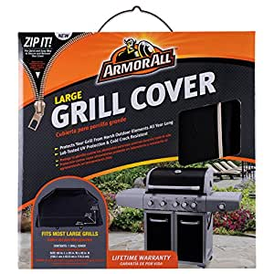 "Armor All 07801AA 65 x 25 x 45"" Grill Cover, Black"