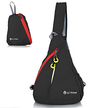 LC Prime Mochila de Hombro Plegable Desequilibrio Satchel Backpack Casual Crossbody Bolsa Bolso de Viaje para Deportes Al Aire Libre Gimnasio Ciclismo ...
