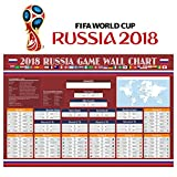 #7: Fixget Wall Chart Poster, Russia 2018 World Cup Stickers - 80 x 53 cm World Cup Poster