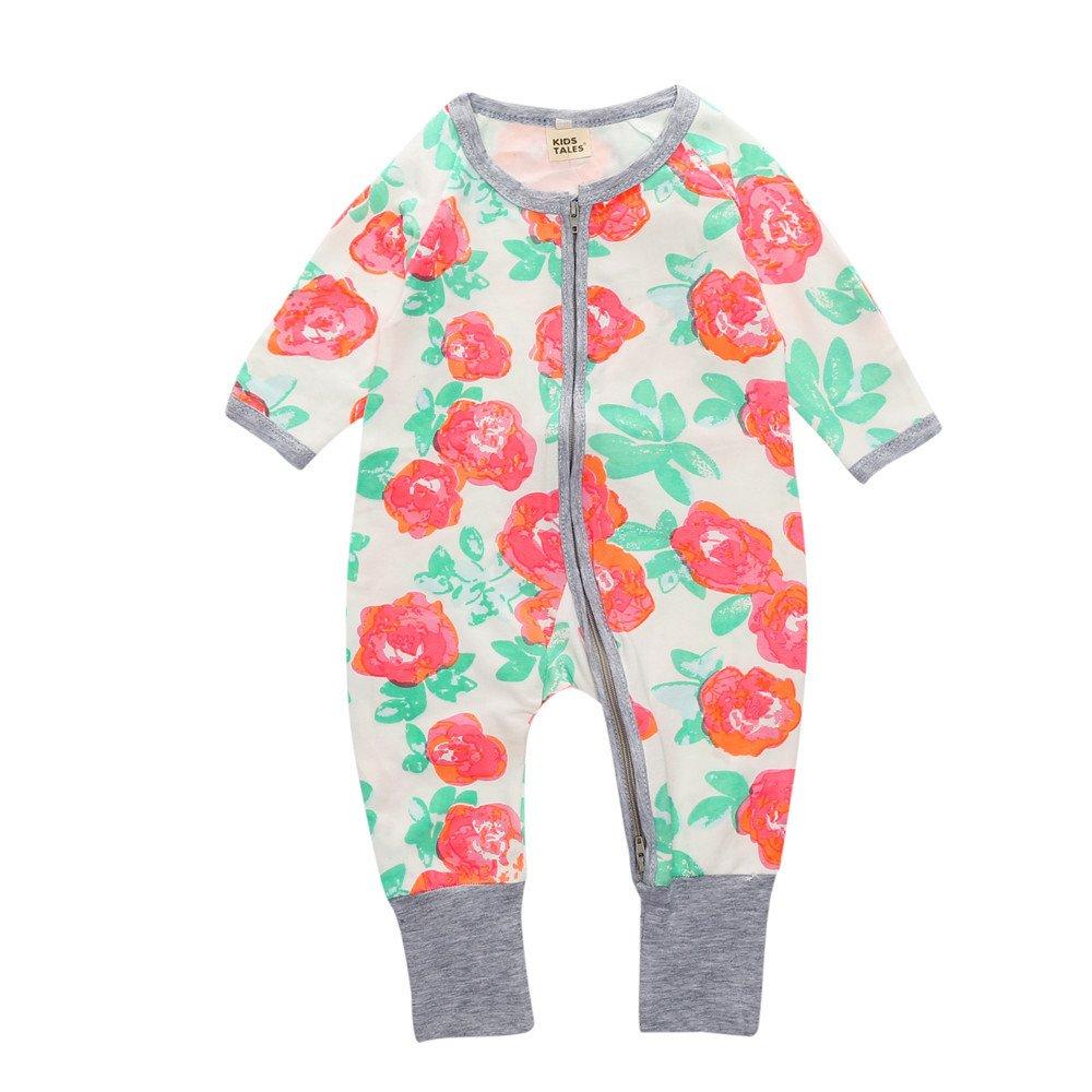 Kids TalesFlower Baby Girl Pajama Sleeper Cotton Zipper Closed(Size 4-24M) Fuzhou Shang Ku Trade Co. Ltd.