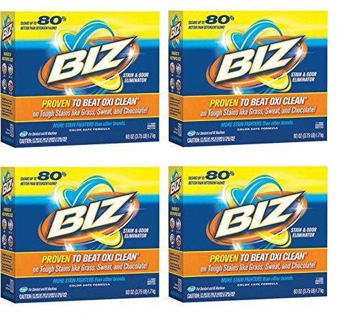 Biz Stain & Odor Eliminator Powder, 60 oz (4pack)