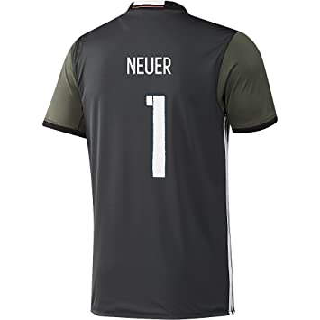 Adidas DFB Alemania fútbol Camiseta Away Euro EM 2016 Manuel Neuer 1 Niños Gris Verde: Amazon.es: Deportes y aire libre