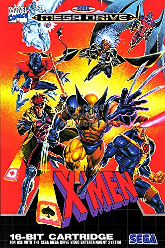 CGC Huge Poster - X-MEN BOX ART Sega Genesis Mega Drive GLOS