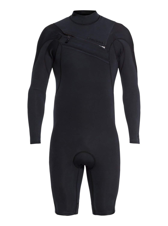 Quiksilver Mens 2/2Mm Highline Ltd - Long Sleeve Chest Zip Springsuit for Men Long Sleeve Chest Zip Springsuit Black XXL