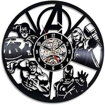 Avengers Wall Decor Vinyl Record Clock Art Home Design
