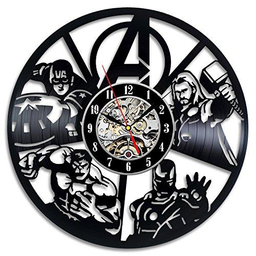 (Avengers Wall Decor Vinyl Record Clock Art Home Design)