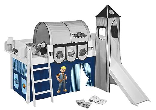Etagenbett Vorhang Cars : Vorhang bob der baumeister für hochbett spielbett und etagenbett