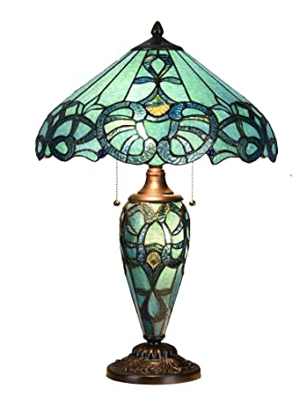 Niloah Nh16201 Tiffany Style Table Lamp 16 Inch Shade With Lighted