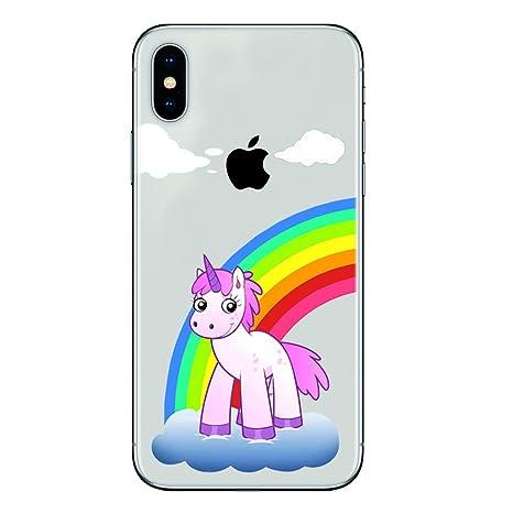 f0eacaec9da SLIDE iPhone X TPU Funda Gel Transparente Carcasa Case Bumper de Impactos y  Anti-Arañazos