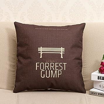Amazon Apexshell TM FORREST GUMP Cotton Linen Square