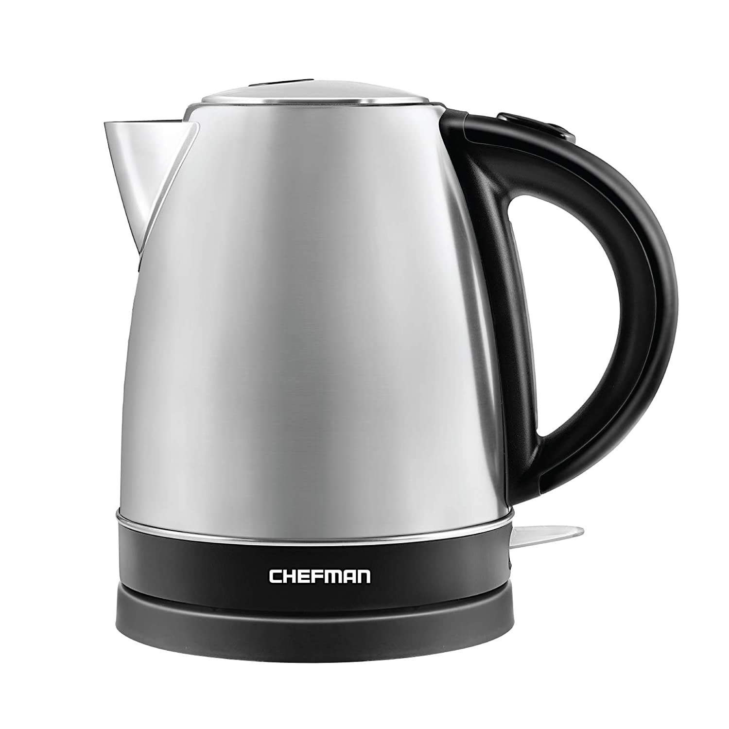 Chefman Stainless Steel Electric Kettle w/ 360° Swivel Base, Auto Shut Off & Boil Dry Protection, BPA-Free Interior and Cool-Touch Handle, 7+ Cup Capacity, 1.7 Liter/1.8 Quart