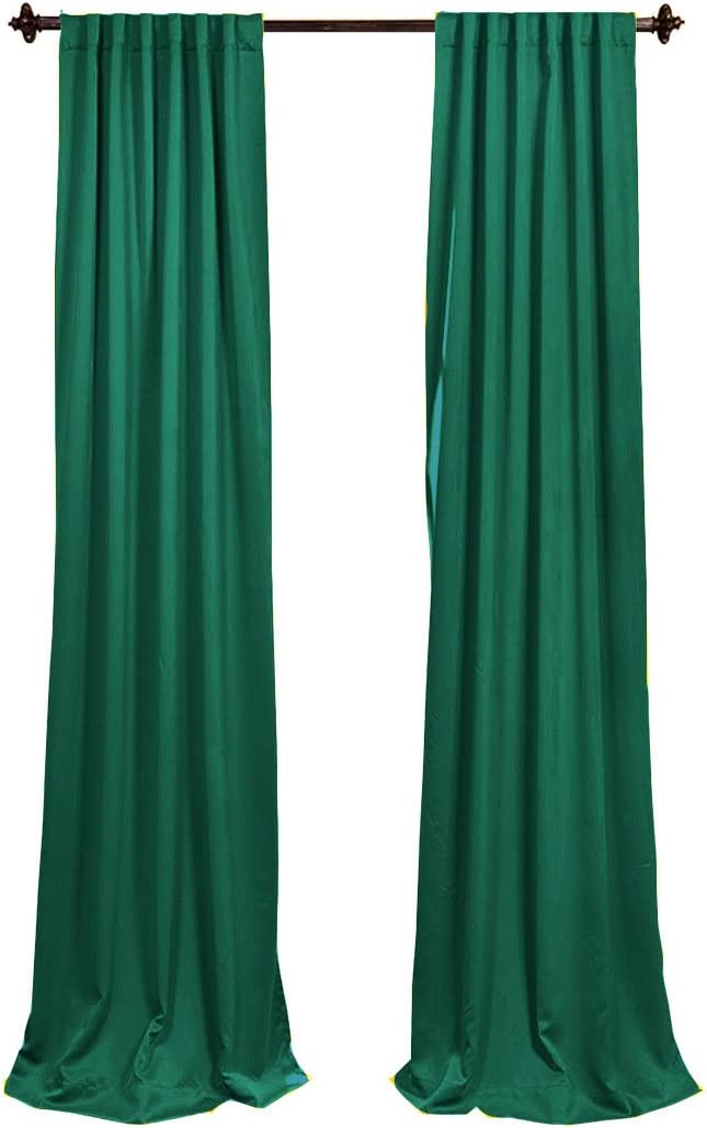 Teal BDpop96x58/_Pk2/_TealP43 2 Pack 96 x 58 LA Linen Polyester Poplin Backdrop Drape