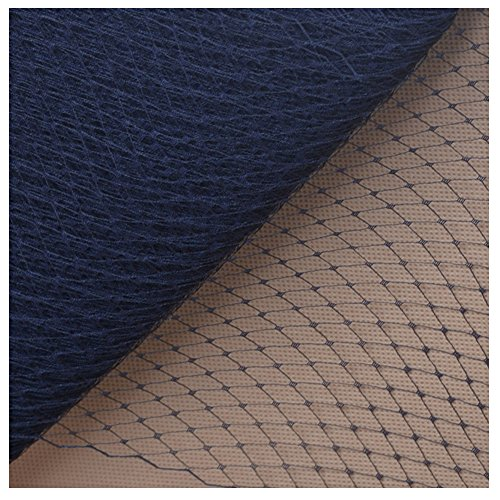Birdcage Veil Netting Lots French Wedding Hat Fascinator Millinery Craft B089 (1 Yard, Navy Blue) (French Netting)