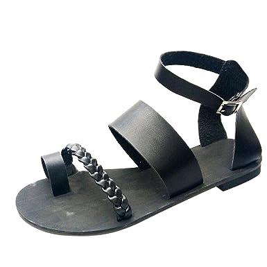 90f0d3a3304 DENER Women Ladies Girls Black Gladiator Sandals