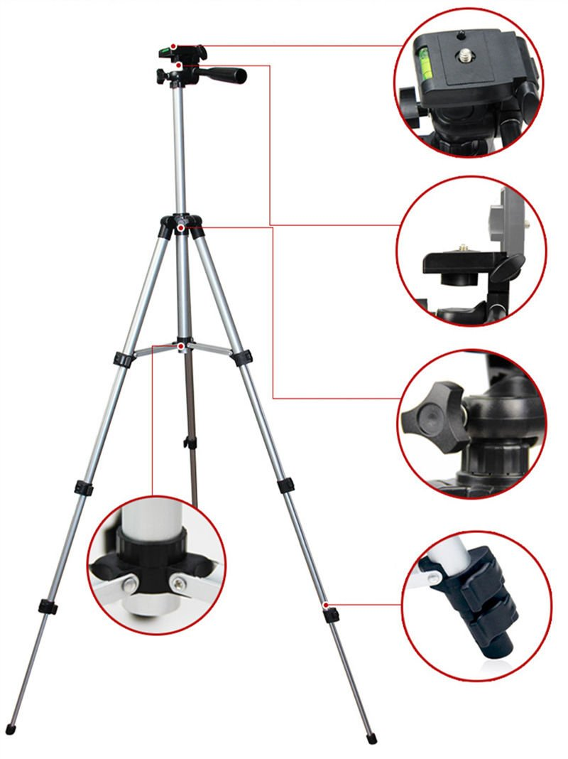 Webcam Tripod, 41'' Camera Tripod Mount Holder Stand for Logitech Webcam C922 C930e C930 C920 C615-Silver by Acetaken