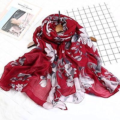 Écharpe fil balinais _ quatre saisons de fils Fantaisie florale Bali grand foulard Femme de couleur solide