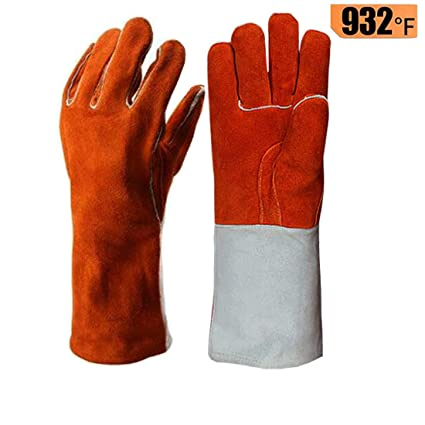 Back To Search Resultsapparel Accessories 1 Pair Insulated Fire Resistant Long Sleeve Leather Gloves For Grill Pot Holder Bbq Welding Stove Oven Fireplace 100% Guarantee