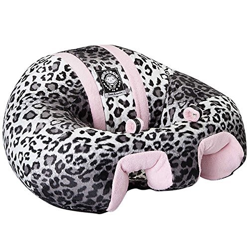 Hugaboo Infant Sitting Chair, Snow Leopard/Pink, 3-10 Months