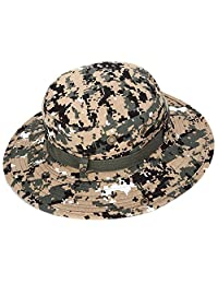 Elisona-Stylish Large Brim Outdoor Fishing Bucket Hat Cap Breathable Sun Block with Drawstring for Hiking Camping Hunting Traveling